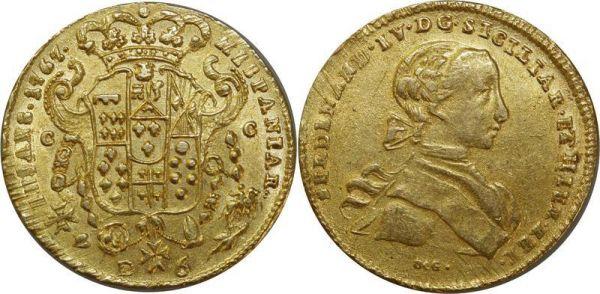 Italy Deux Siciles 6 Ducats Ferdinand IV 1767 Or Gold