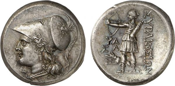 Sicily. Syracuse. 5th Republic. 215-212 BC. AR 12 Litrae (10.18g, 6h). Burnett D33; Jameson 892. Lightly toned. Perfectly centered and struck. Superb extremely fine. Formerly acquired from Anne Demeester
