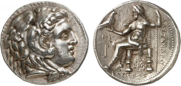 Macedonia. King Alexander III. Babylon. 323 BC. AR Tetradrachm (17.07g, 12h). Müller 749; Price 3767. Lightly toned. Perfectly centered and struck. Extremely fine. Formerly acquired from Anne Demeester