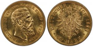 Germany Gold 1888 20 Marks