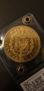 Italy Gold 1826 80 lire in oro 1826 T.
