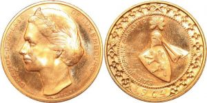 Luxembourg Gold 1964 40 Francs AA253 Luxembourg 40 Francs Grande Duchesse Josephine Charlotte 1964 Or Gold BU