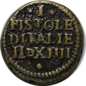 O1151 Italy Poids Monetaire pièce 1 Pistole