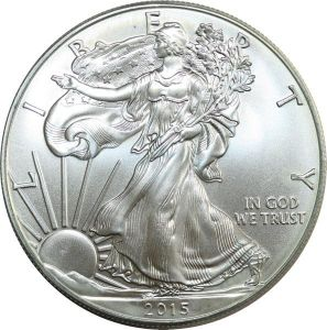 O7552 USA Dollar Liberty 2015 American eagle Oz 999% Silver BU GEM
