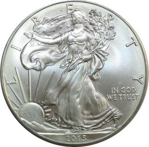 O7554 USA Dollar Liberty 2015 American eagle Oz 999% Silver BU GEM