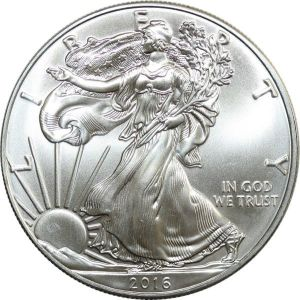 O7563 USA Dollar Liberty 2016 American eagle Oz 999% Silver BU GEM