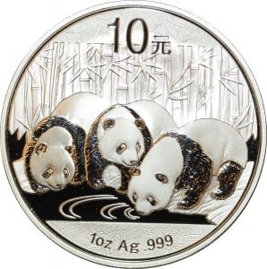 O7686 China 10 Yuan Panda 2013 1 oz 999% Silver Proof PF BE ->M offer