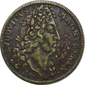 O7788 Jeton Batiment du Roi Louis XIV 1696 signé CL ->Make offer