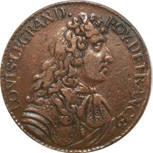 O7818 Jeton Louis XIV portrait cravate rattachement Bar France 1680 ->M offre