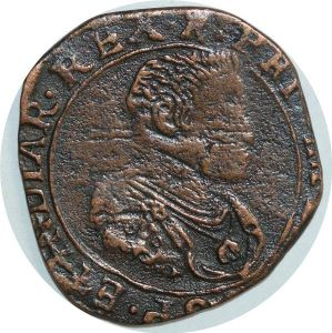 O7908 Scarce Luxembourg Sou Spanish Netherland Philippe IV 1641 ->Make offer