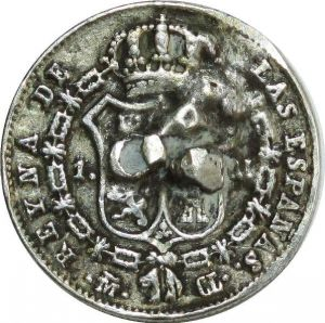 O8010 Espagne Spain real Isabelle II  1839 CL Madrid Silver ->M offer