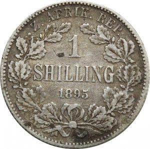 O8032 Unique South Africa South Africa Shilling 1895 Engraved Silver ->M offer