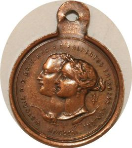 O8159 British Medal Victoria Albert To The Count e Dunin Class X Quality AU