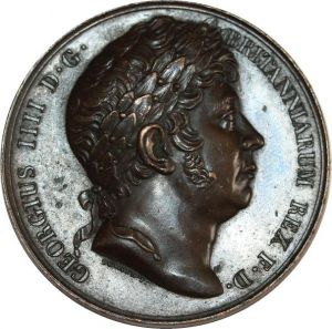 O8235 British Medal UK King of England George IV Death 1830 Durand AU