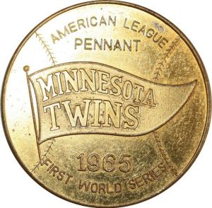 O8256 USA Token Minneapolis Minnesota Twins City Federal 1965 UNC