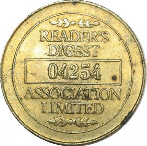 O8257 Rare USA Token Reader's digest Est. 1922  N° 04254 !!! ->Make offer