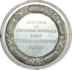 O8285 Rare Exposition Universelle Paris Blondelet 1867 Paris SPL ->Faire offre