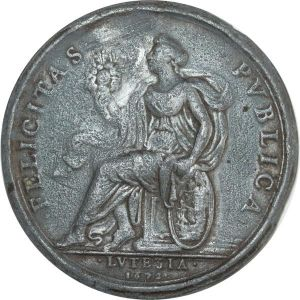 O8306 Louis XIV Cast medal Felicitas Pvblica Lvtetia 1672 ->Make offer