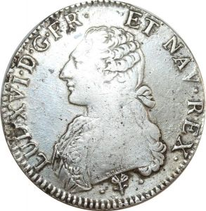 O8315 Ecu Louis XVI branches oliviers 1785  L Bayonne Argent Silver ->F offre