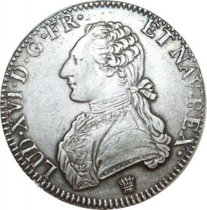 O8317 Ecu Louis XVI branches oliviers 1788 I Limoges Argent Silver ->F offre