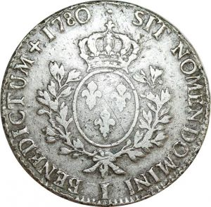 O8318 Ecu Louis XVI branches oliviers 1780 I Limoges Argent Silver ->F offre