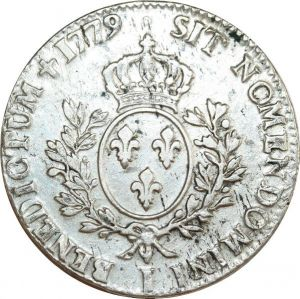 O8319 Ecu Louis XVI branches oliviers 1779 I Limoges Argent Silver ->F offre
