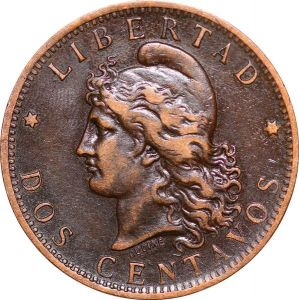 O9868 Argentina 2 Centavos Capped liberty head 1884 XF+ -> Make offer