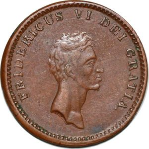S7212 Scarce denmark 12 Skilling 1812 Frederik VI AU superbe ->Make offer