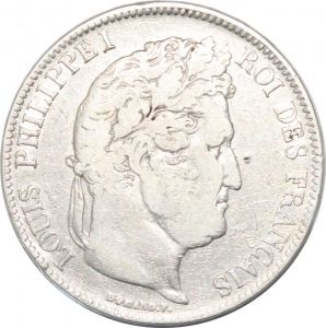 S8226 5 Francs Louis Philippe I 1833 BB Strasbourg Argent Silver -> Faire Offre