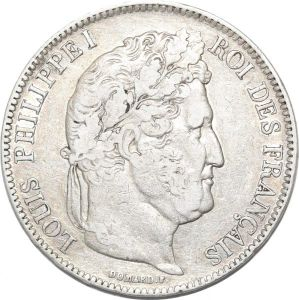 S8236 Rare 5 Francs Louis Philippe I 1840 W Lille Argent Silver different