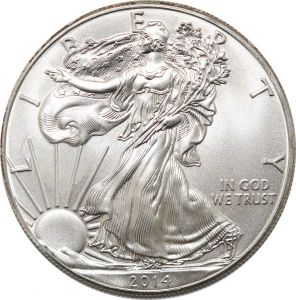 S8487 USA One Dollar Liberty 1 oz fine Silver 2014 Argent Silver FDC UNC