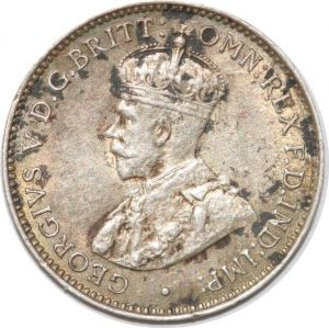 S8867 Scarce Australia Three 3 pence George V 1912 Argent Silver AU