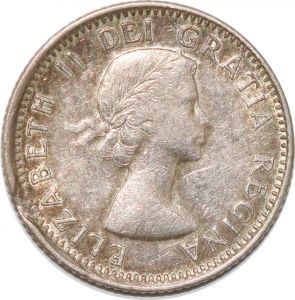 S8911 Canada 10 Cents Elisebeth II 1953 Argent Silver ->Faire Offre