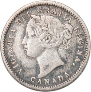 S8913 Scarce Canada 10 Cents Victoria 1881 H Argent Silver ->Faire Offre