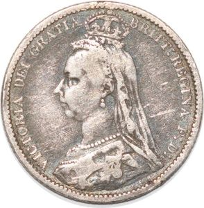 S8962 Great Britain 6 Pence Victoria 1889 Argent Silver ->Make offer