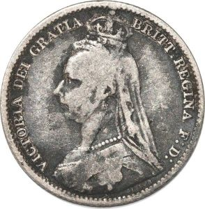 S8964 Great Britain 6 Pence Victoria 1892 Argent Silver ->Make offer