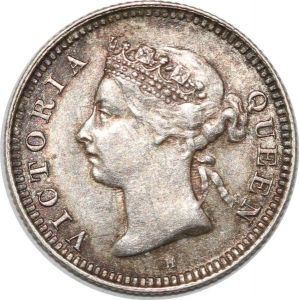 S8972 Mauritius 10 Cents Victoria 1889 H Argent Silver AU SUP ->Make offer