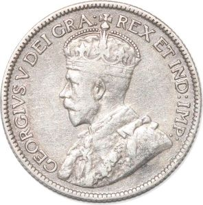 S8973 Cyprus 9 Piastres George V 1921 Argent Silver XF ->Make offer