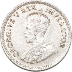 S8984 South Africa 6 Pence George V 1926 Argent Silver AU !->make offer