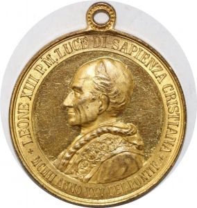 S9328 Médaille Papal Vatican Leo XIII Pont Max Colonna Appoggio Christiana