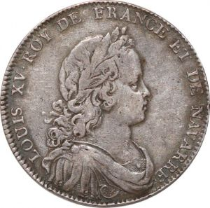 S9590 Rare Jeton Louis XV Buste Corporations Juges Et Consuls marchands Silver