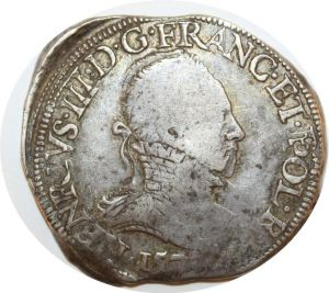 T158 Henri III Teston 157- Nantes T Argent Silver -> Make offer !!!!