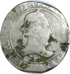 T4021 Henri III Franc Col Plat 1578 F Angers Argent Silver -> Faire offre