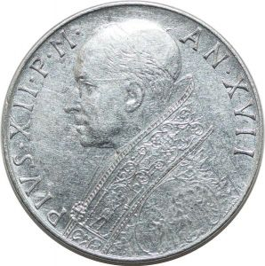T49 Vatican Papal 100 Lire 1955 Pivs XII Repubblica Italiana Sup !!-> M Offer