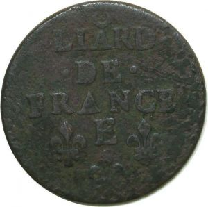 T8033 Liard de France Louis XIV 1657 E Tours -> Faire offre