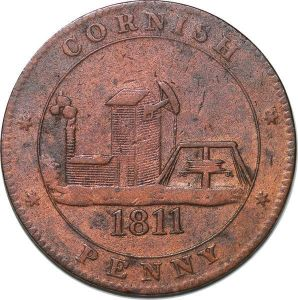 T8456 Great Britain England Token Cornwall Cornish Penny 1811 -> Make offer