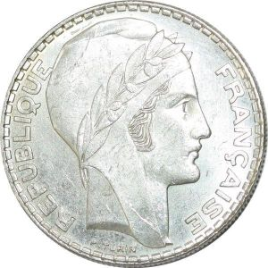 T8992 20 Francs Turin 1938 Argent Silver SUP -> Faire Offre