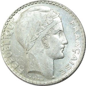 T9001 20 Francs Turin 1938 Argent Silver SUP ++ -> Faire Offre