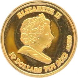 O5030 Fiji 10 Dollars Elizabeth II Egypt 2012 OR Gold BE PF PROOF