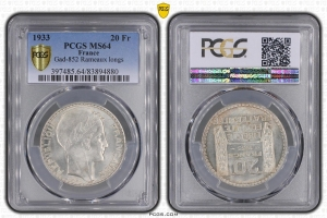 M7984 Rare Constitution 1791-1792 2 sols Monneron Frères 1791 An III PCGS MS64
